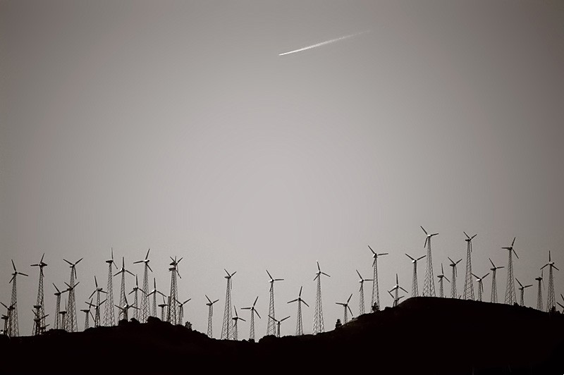 Windfarm in Tehachapi, California.
