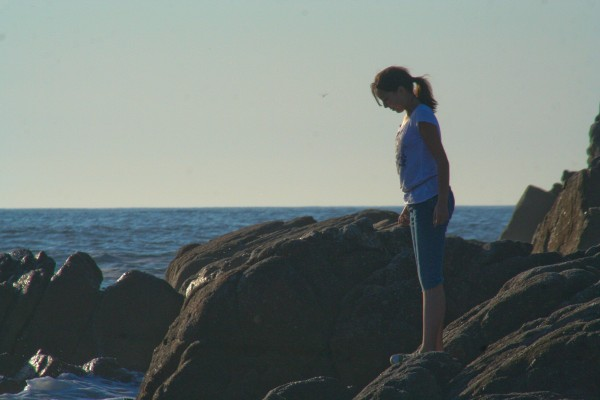 girl at Beach in Pacific Grove California