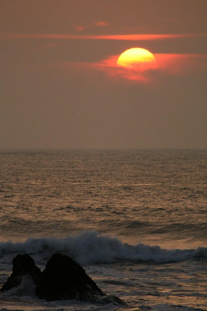 Sunset at entrance to San Francisco Bay