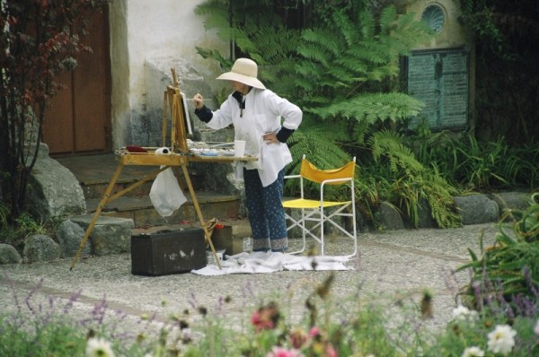 Artists at Carmel Mission, California