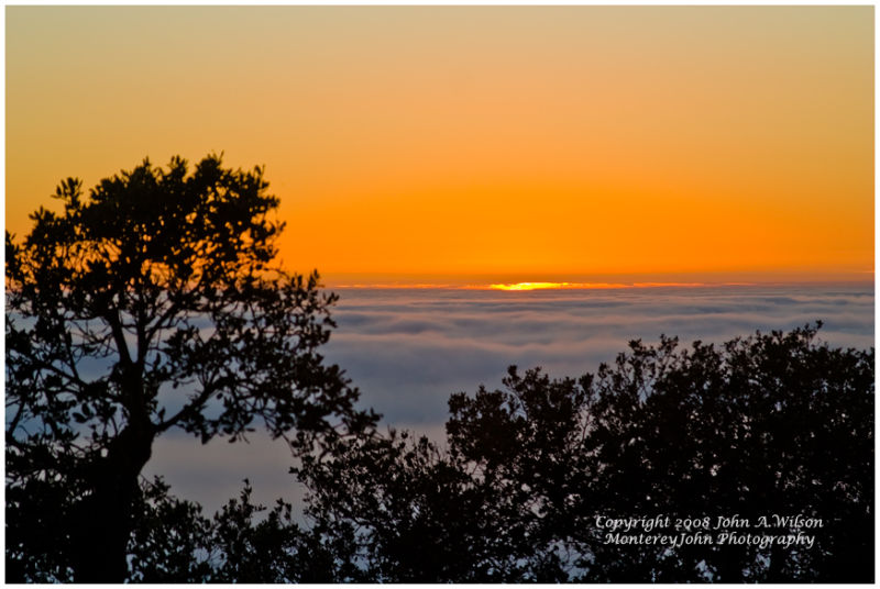 Big Sur - Twilight  Above the Fog