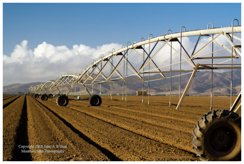 Irrigation Equipment in the salinas Valley, CA