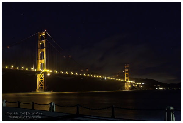 Golden Gate Bridge Nightscape
