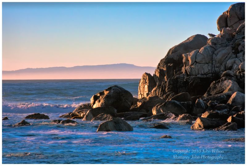 Sunset at Pt Pinos, Pacific Grove, CA HDR