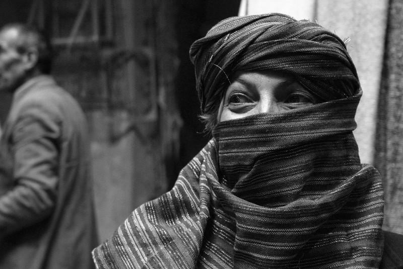 marrocos fez bw retrato
