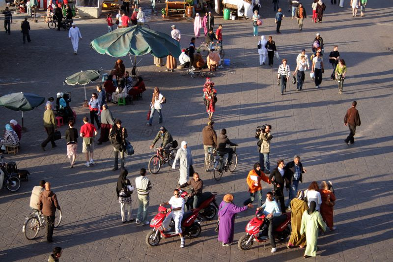 In the Medina of Marrakech - a mix of cultures