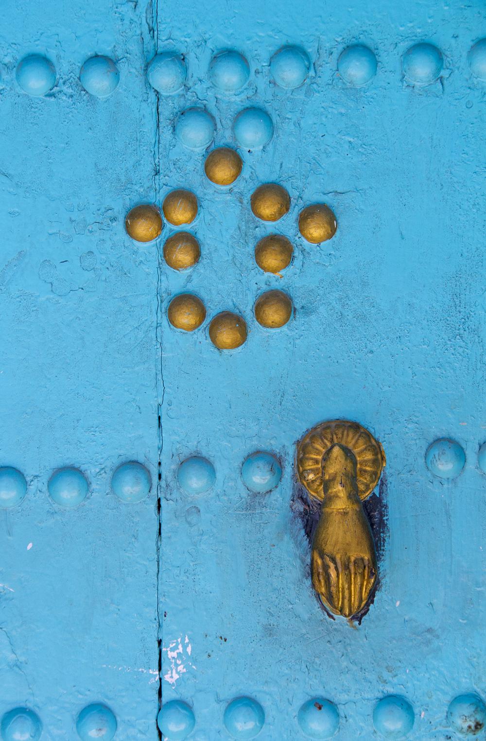 marrocos medina Chefchaouen porta