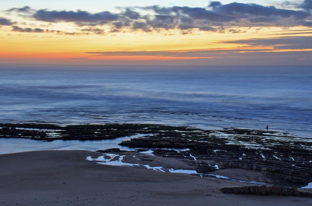 praia polvoeira sunset mar