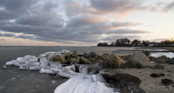 beach in the winter