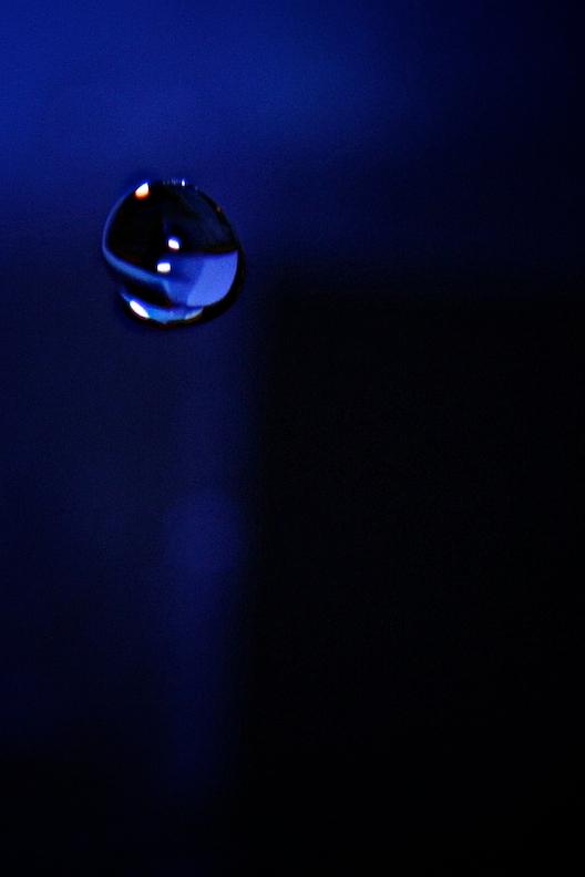 water drop blue