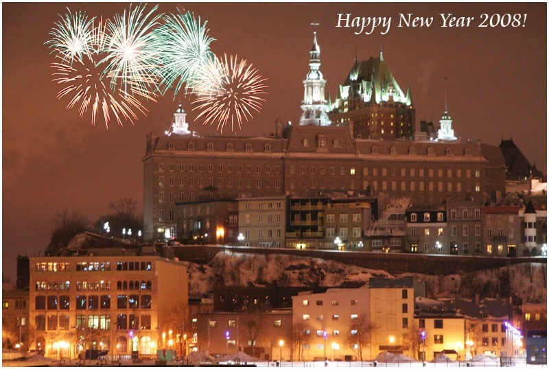 Happy new year from Québec City!