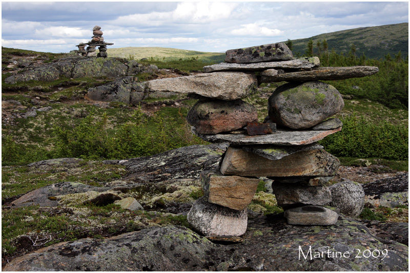 Inukshuk on the Jauffret Mountain summit