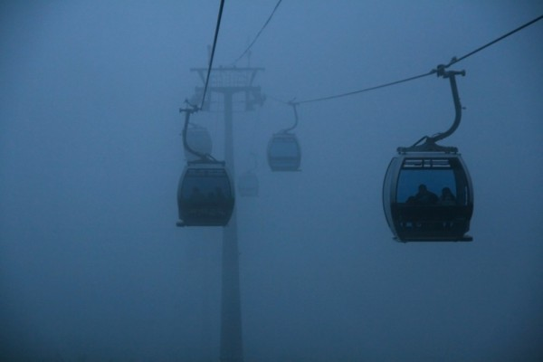 Cable Cars in the Mist