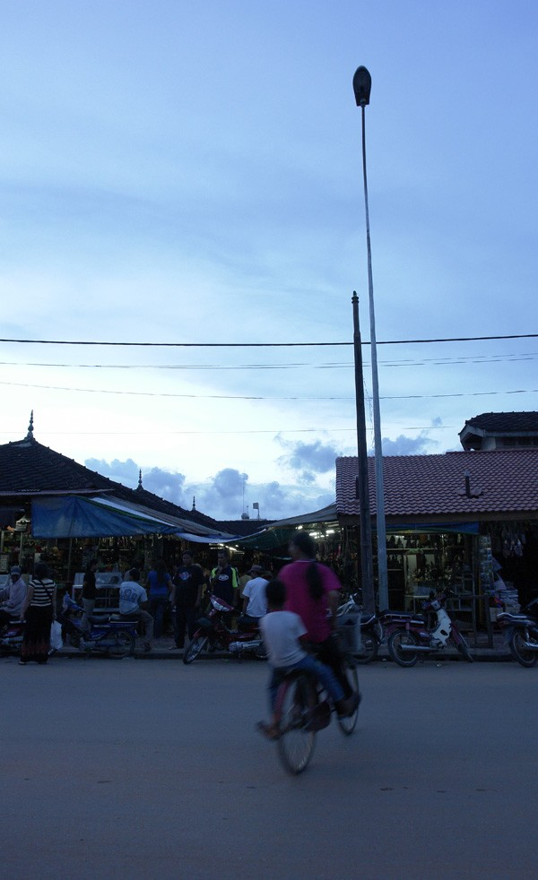 Siem Reap in the evening, Cambodia