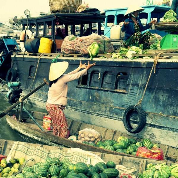 Mekong Delta, Can Tho floating Market, Vietnam