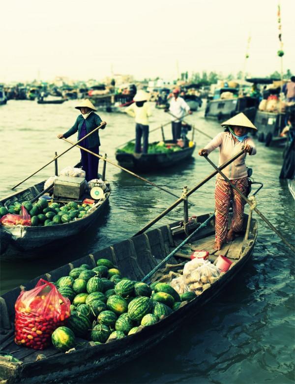 Can Tho Floating Market, Mekong Delta, Vietnam