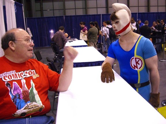 An altercation at comicon.
