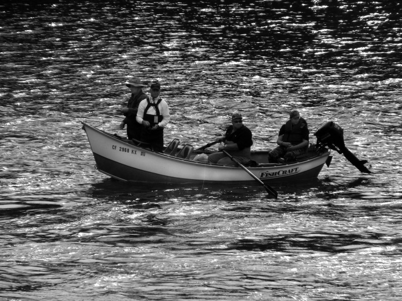 Fishermen near the Sundial Bridge - 2006