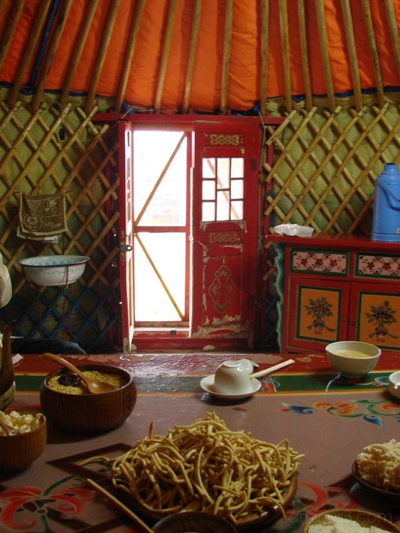Business Meeting - Inside the Yurt