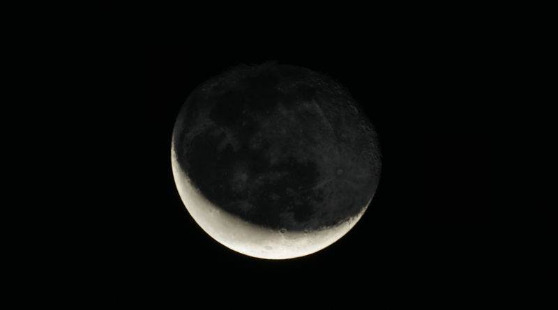 Waning Cresent Moon - Vacaville, CA