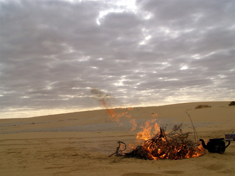 fire in the desert