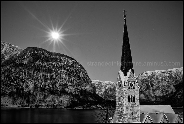 Hallstatt Steeple & Moon