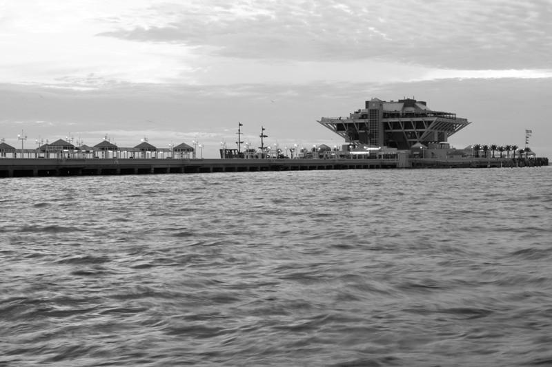 St. Petersburg Pier B/W
