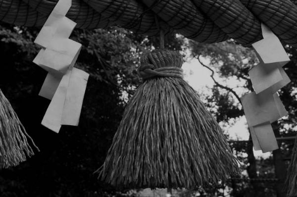 Decoration at shrine gate.