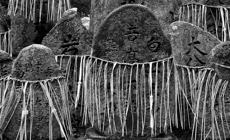 Sacred stones at Fushimi-Inari Taisha.