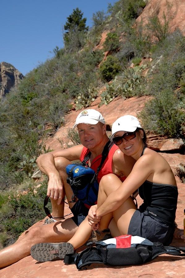 Hikers I met on Vultee Arch.