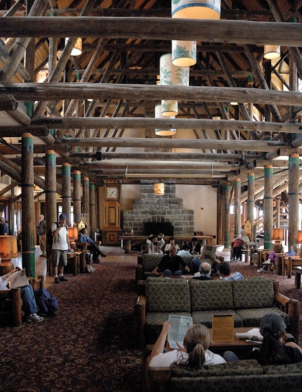 The lobby of the newly remodeled Paradise Inn.