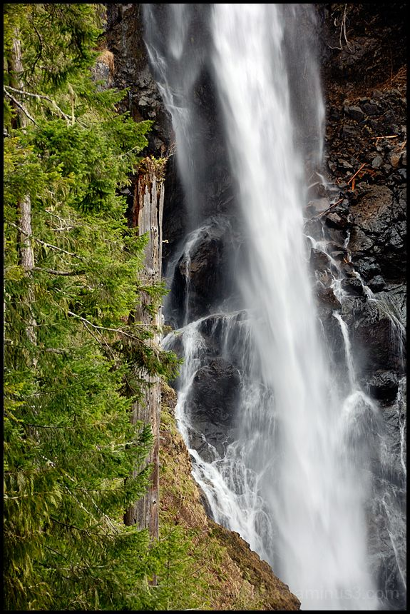 A detail image of Middle Wallace Falls.
