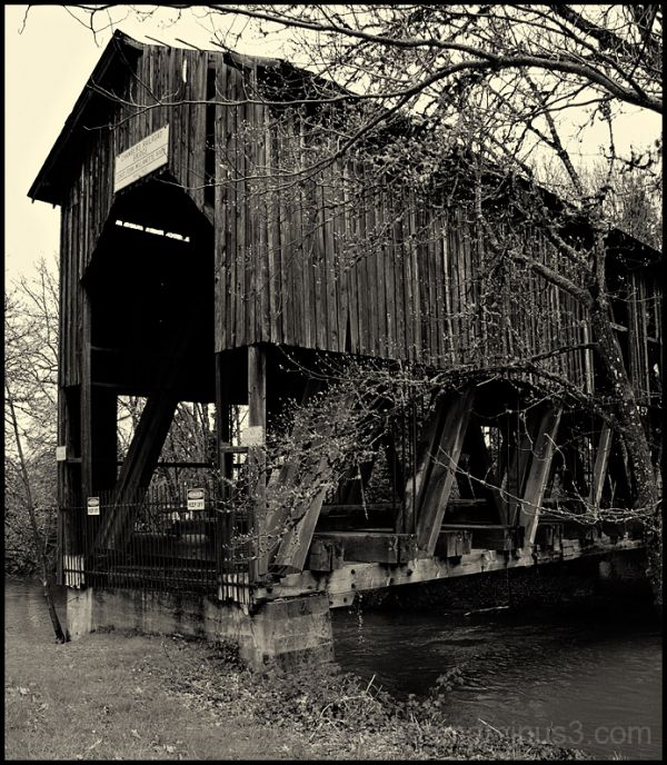 The Chambers Railroad Covered Bridge.
