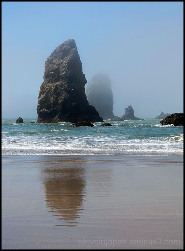 Sea stacks at Cannon Beach, OR.