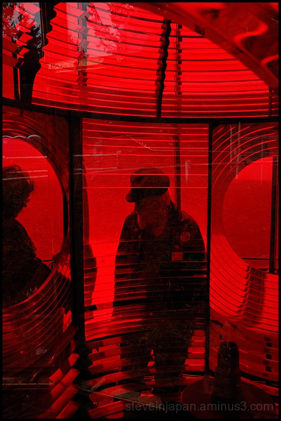 Looking through the fresnel lens at Cape Meares.