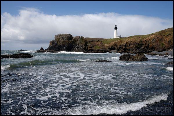 The Yaquina Head Lighthouse on the Oregon coast.
