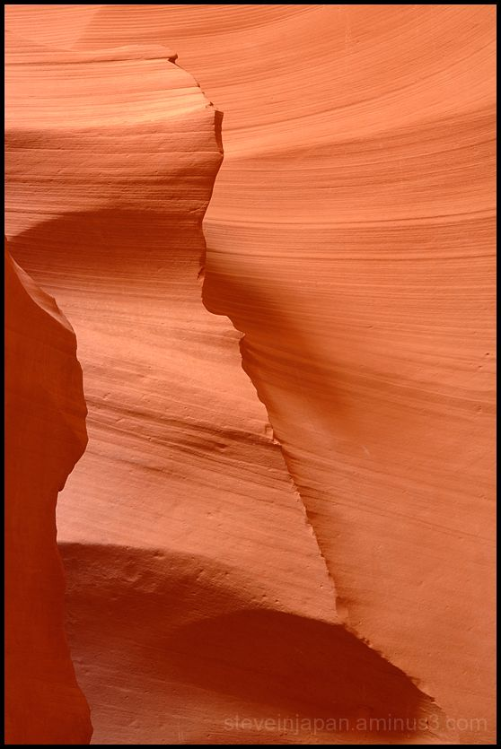Glowing rocks in Lower Antelope Canyon.