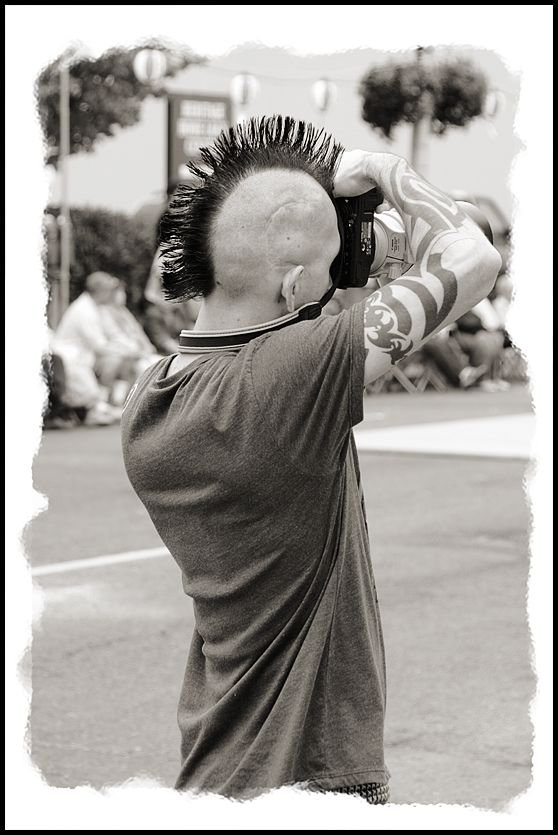 A photographer at Bon Odori in Olympia, WA, USA.