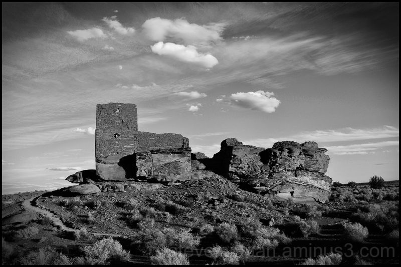 Wukoki Pueblo at Wupatki National Monument.
