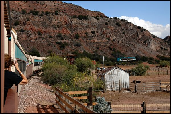 The train is prepared for the return to Clarkdale.