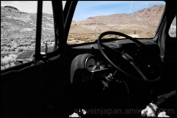 The old truck in Rhyolite, Nevada.