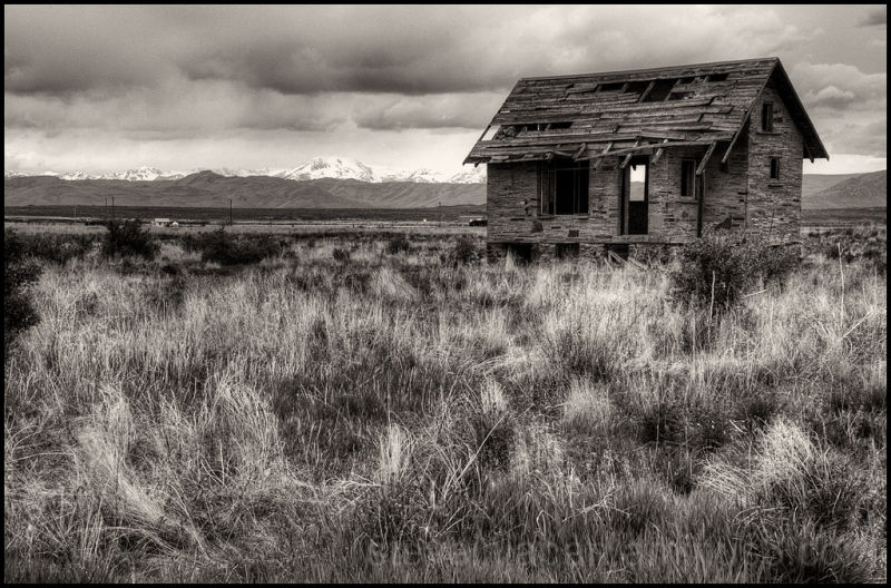 A little house on the edge of Arco, Idaho.