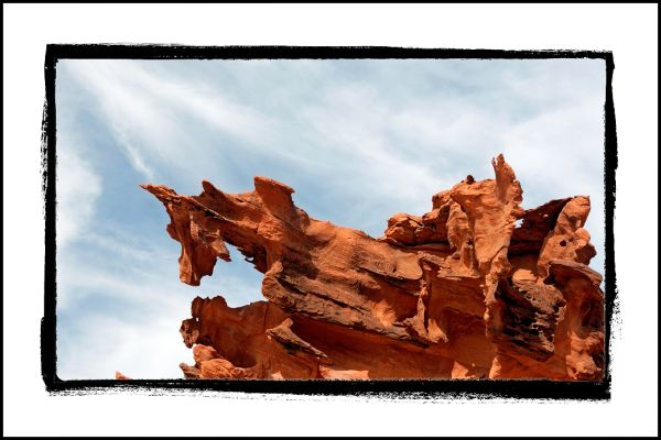 A red rock formation at Devils' Fire in Nevada.