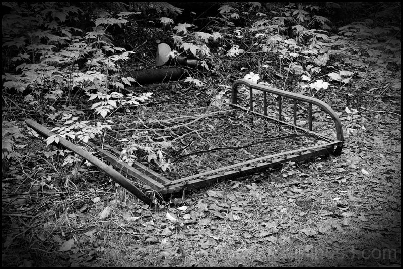 An old bed used at Monte Cristo.