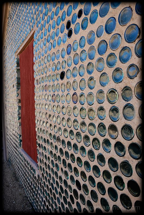 Tom Kelly's bottle house near Rhyolite, Nevada.