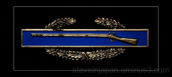 The Combat Infantryman Badge.