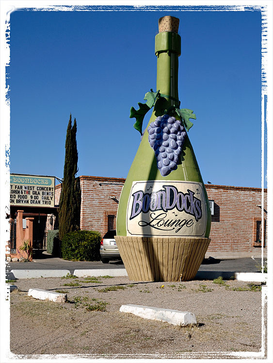 A big wine bottle in Tucson, AZ.