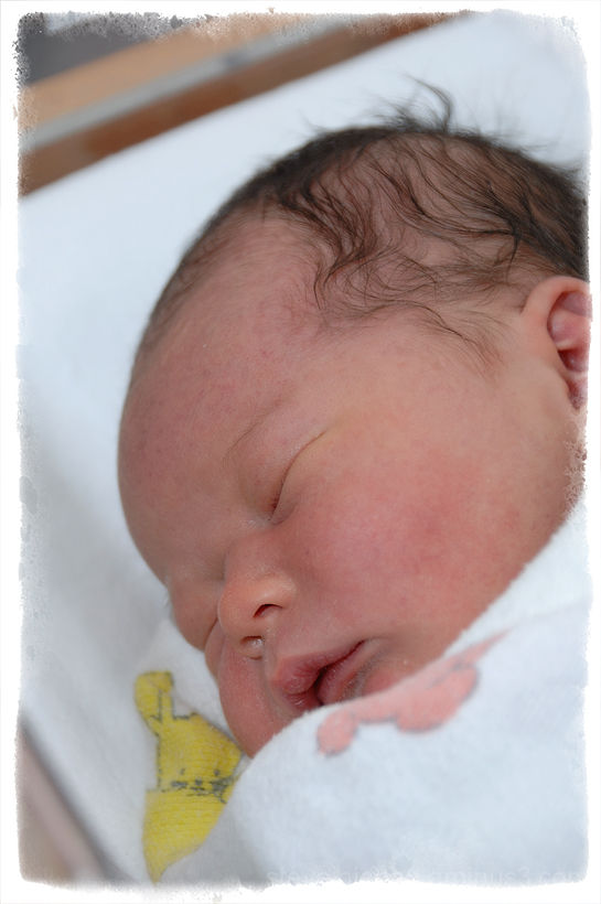 A portrait of newborn Alexander.