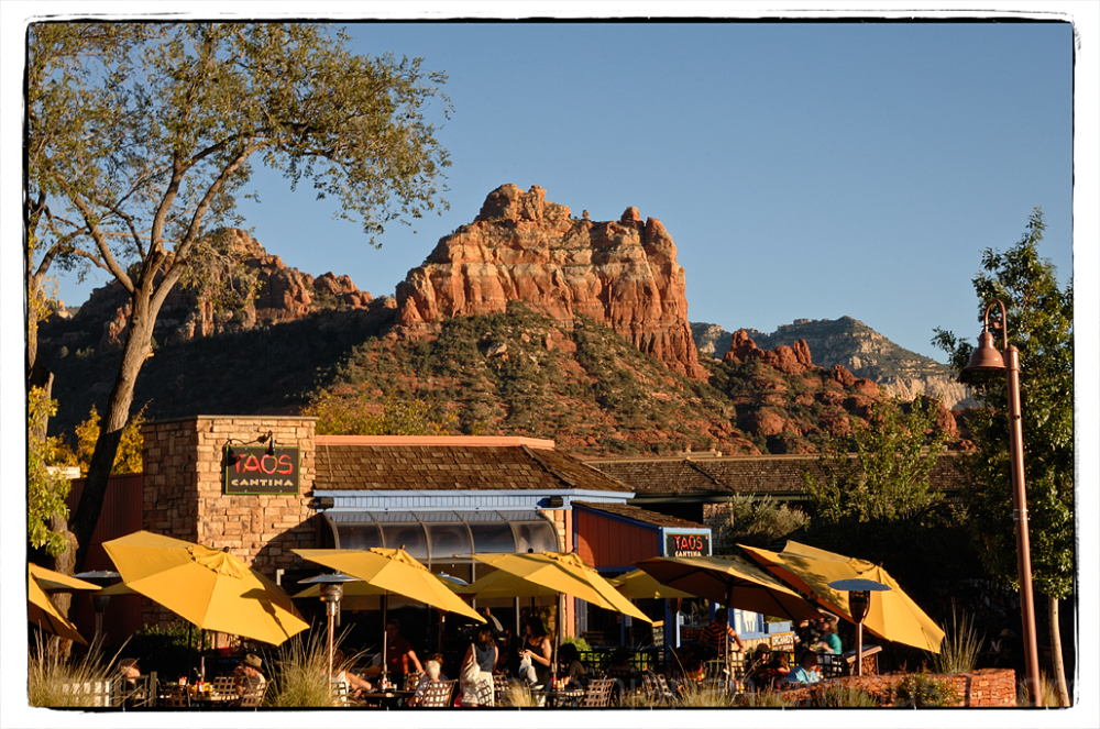 The view that inspired an artist in Sedona, AZ.