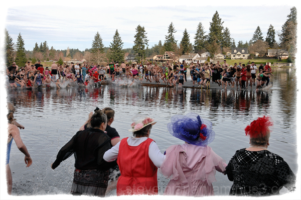 The 24th Annual Polar Bear Plunge.